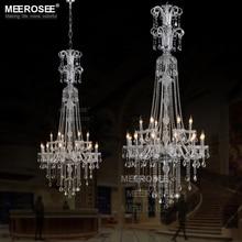 Crystal Chandelier Light Fixture Wholesale18 Arms Top K9 Crystal Chandelier Lustre de sala Lamp Suspension Lighting indoor deco цена