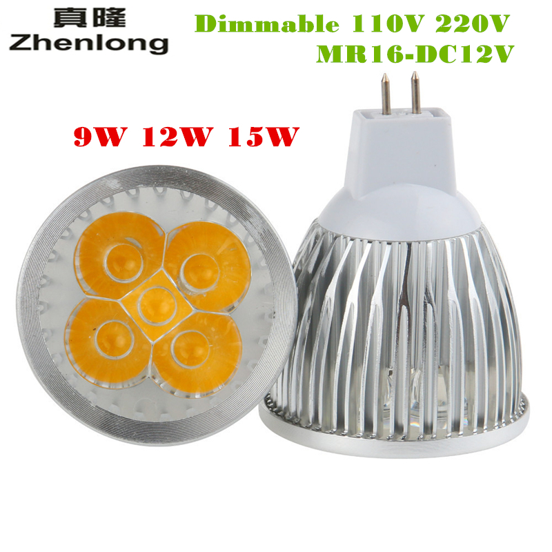 AC110V 220V 9W 12W 15W GU10 E27 MR16 12V LED Bulb Light Warm White Cold White Spotlight For Room illuminate/We Default ship GU10