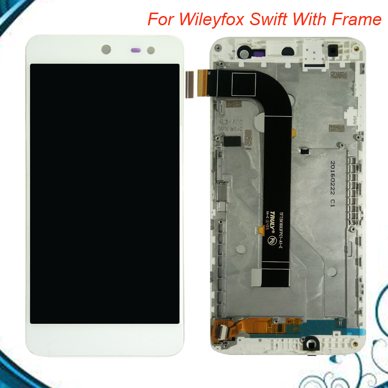2 Colors For Wileyfox Swift LCD Display+Touch Screen With Frame 5.0inch Smartphone Screen Digitizer Assembly Repair Parts