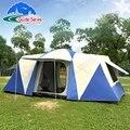 8 10 12 Person 2 Schlafzimmer 1 Wohnzimmer Riesige Anti Regen Shelter Party Familie Basis Wandern Angeln Strand Relief outdoor Camping Zelt