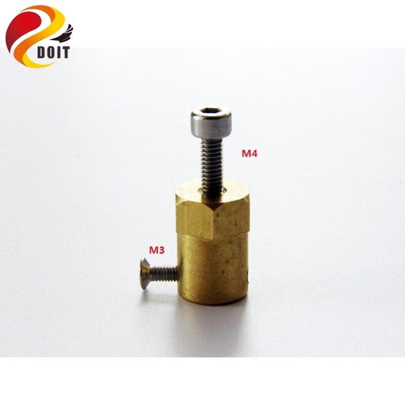 1 Satz Kupfer Kupplung 3mm, 4mm, 5mm, 6mm, 7mm Koppler Für Anschluss Rad Stecker Adapter Smart Auto Diy Spielzeug Teil
