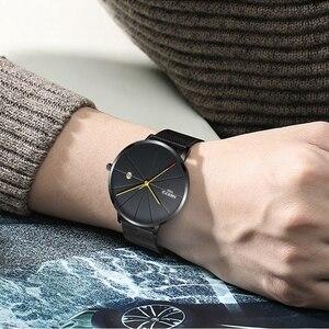 Image 5 - NIBOSI פשוט שעון גברים & נשים שעון יוקרה מפורסם למעלה מותג שמלת עמיד למים Ultra דק קוורץ שעון ממילאנו להקת שעוני יד