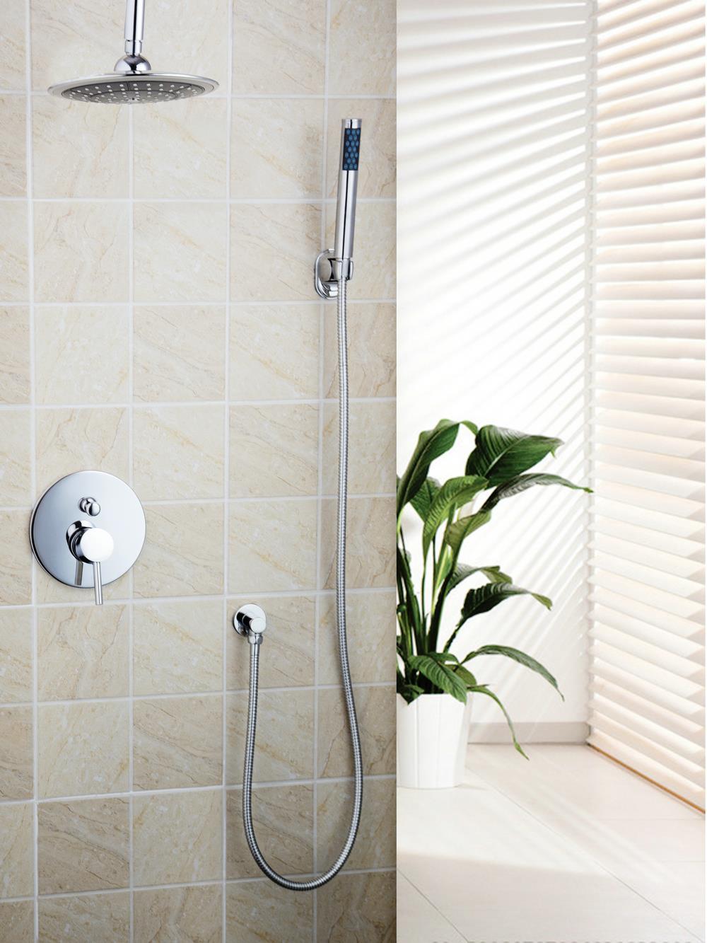 Hose for bathroom faucet - Bathroom Chrome 8 Abs Shower Head Brass Valve Hand Spray Hook