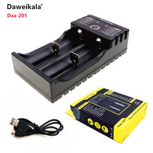 2018 Daweikala Daa201 18650 Charger 1.2V 3.7V AA / AAA 26650 10440 14500 16340 25500 NiMH lithium battery smart charger(China)