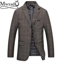 363ec11a4f30b Mwxsd Brand Men S Plaid Wool Blazer Jacket Men Fashion Slim Fit Suit Jacket  Homme Casual