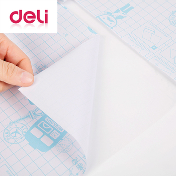 Deli 30pcs/set transparent book cover can be cut self adhesive paper sticker film large medium small