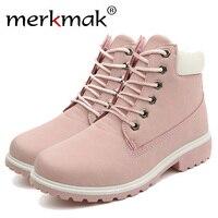 Merkmak 2017 Women S Shoes Fashion Martin Women Boots Winter Autumn New Style Breathable Shoes Women