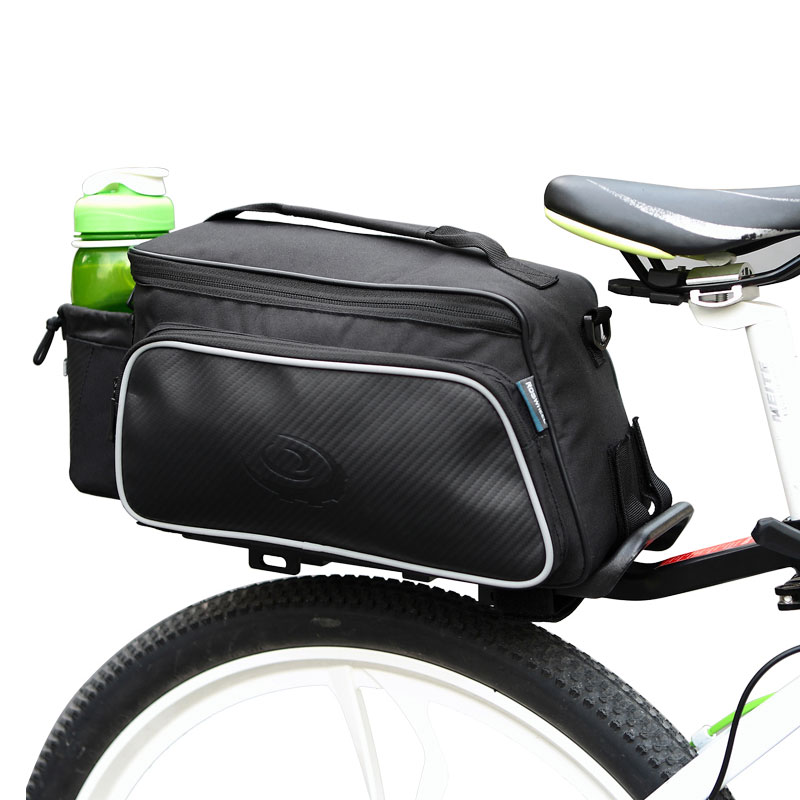 ROSWHEEL Bicycle Carrier Bag Rack Trunk Bike Luggage Back Seat Pannier Outdoor Cycling Storage Handbag Shoulder Strip 14815