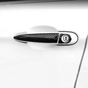 Carbon Fiber Car Styling Door Handle Cover Strip Trim Stickers for BMW 1 2 3 4 Series X1 F20 F30 F31 F34 E84 Accessories