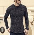 Coelho Camisola da caxemira Dos Homens 2016 Dos Homens de Roupas de Marca Blusas Moda Casual Camisa Homens Pullover De Lã Puxar O Pescoço Vestido