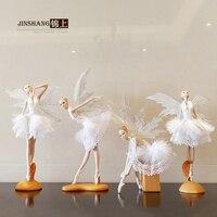 を新しいバレエ少女フィギュアホーム家具の装飾誕生日ダンス天使リビングルーム装飾