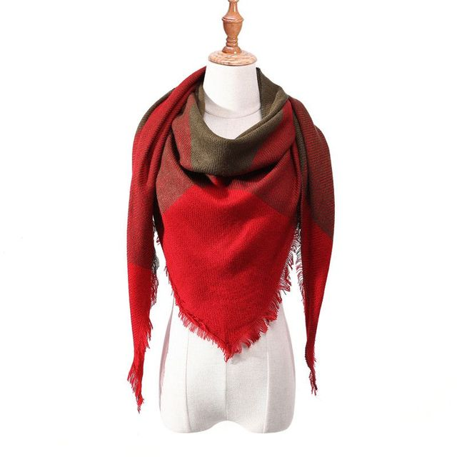 New 2018 Autumn Winter Imitation Cashmere Scarf Triangle Blanket Shawls and Scarves Patchwork Towel Men and Women Warm Shawl V1