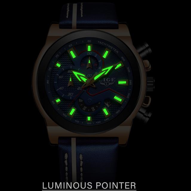 LIGE Classic Mens Watches Top Brand Luxury Military Sport Watch Men Leather Waterproof Clock Quartz Wristwatch Relogio Masculino