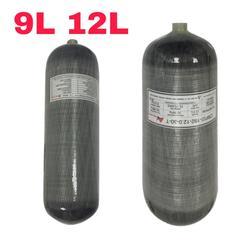 Tanque de submarinismo Acecare 9L CE/12L GB Pcp, tanque de aire, cilindro de buceo, tanque Pcp de aire 4500psi, cilindros de fibra de carbono, botella de aire para buceo