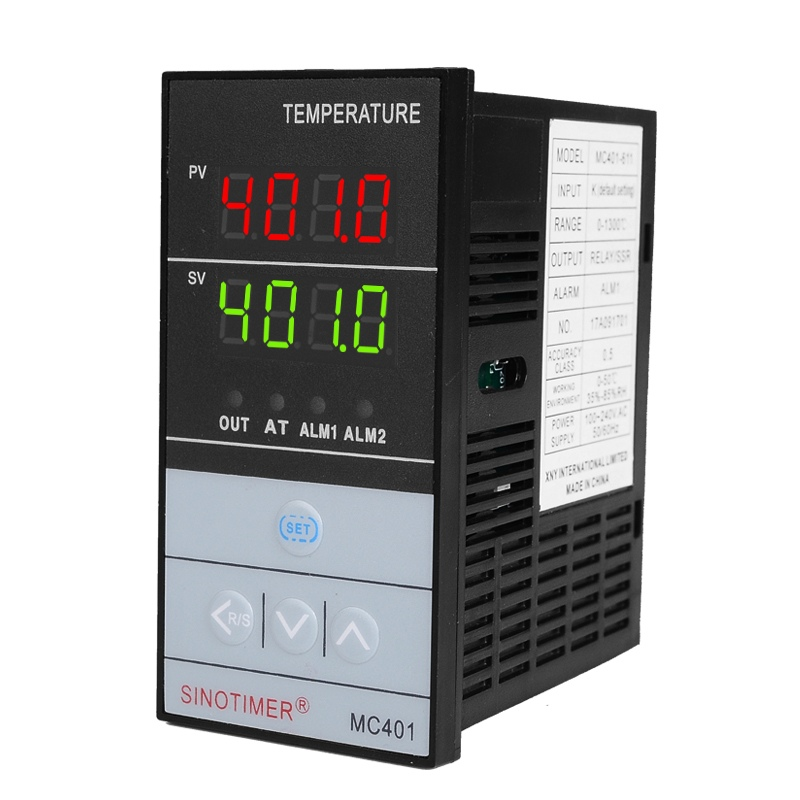 Temperature Controller Input PT100 K Thermocouple Digital PID SSR Relay Output for Heat Cool with Alarm Fahrenheit Short Shell цена