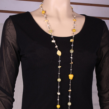716d8f52645a Cnaniya jewelrybijoux ethnique Piedras y cristales largo collar Bohemia  moda Collares para las mujeres 2016 verano