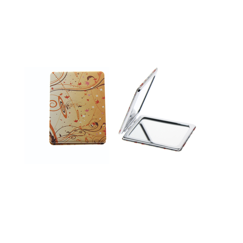 8,5*6 Cm Rechteck Doppelseitige Edelstahl Falten Portable Espejo De Maquillaje Espelho De Maquiagem Bad Kosmetikspiegel Spiegel