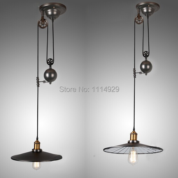 nordic loft retro industrial pendant lights restaurantbar lighting rustic style pulley lamps vintage edison cheap rustic lighting