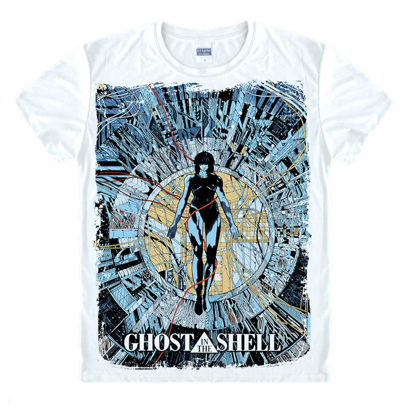 Ghost In The Shell T-shirt Top Men T Shirt Clothing Short Sleeve Brand Unisex TEE Shirt