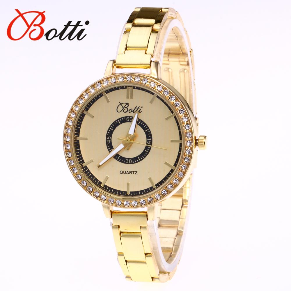 Prix pour Relojes mujer 2017 mode ybotti d'or montre femmes étroite largeur inoxydable bande wist montres relogio reminino montre femme