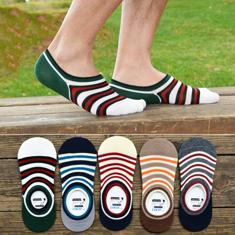 Striped Man Socks Cotton High Quality Classic Breathable Soft Mountain Socks Men