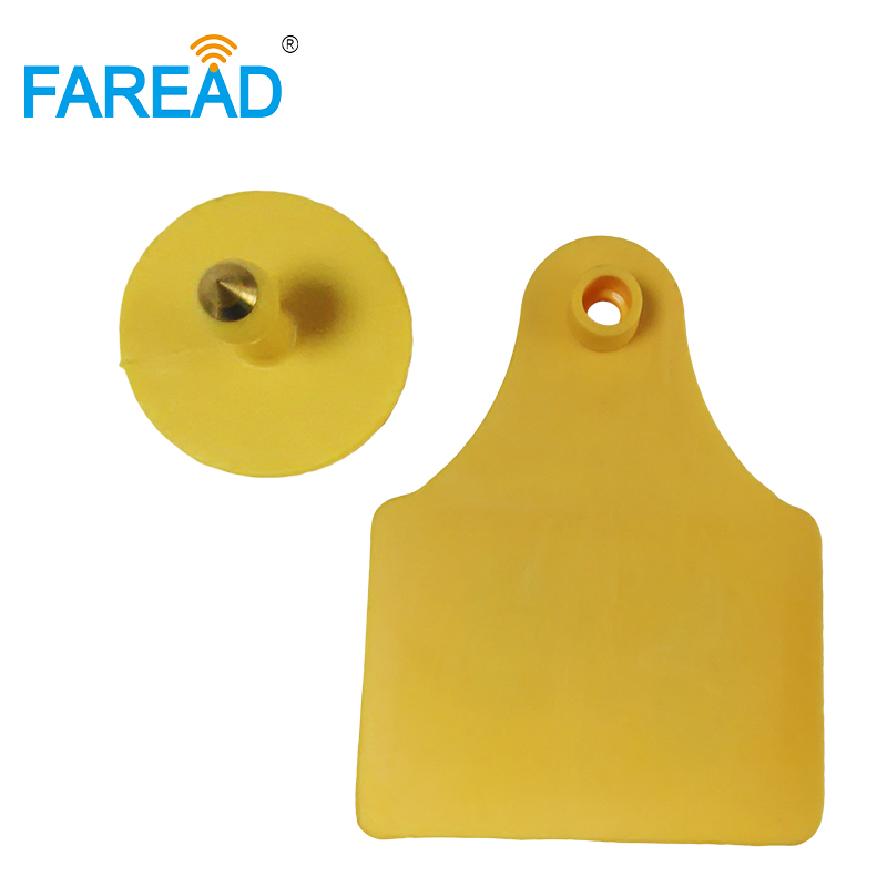 Best Quality X10pairs RFID Passive Tag Read/Write UHF 860-960MHz Animal Ear Tag For Cow Livestock Identification