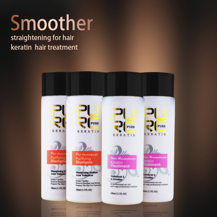 keratin and purifying shamoo 2 set