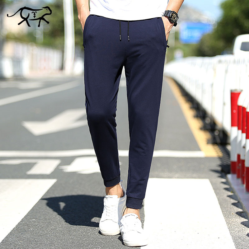 Pants Men New Fashion Casual Cotton Pants Spring Summer Slim Fit Men's Sweatpants Joggers Male Long Trousers Pantalones Hombre