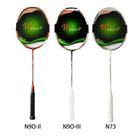 Professional Full Carbon Badminton Practice Training Match Racket Raquette All Carbon 3 Models N90 Second Third
