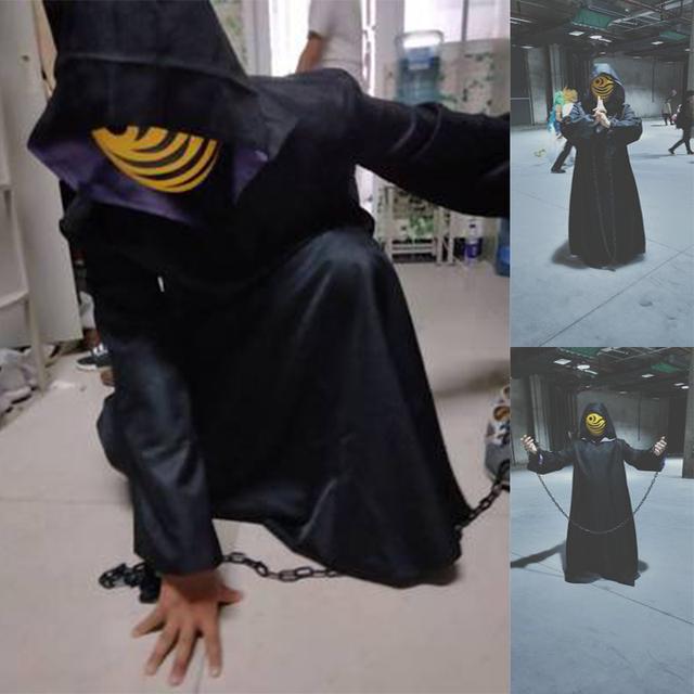 Naruto Uchiha Obito/Tobi Traje con Cadenas para Cosplay