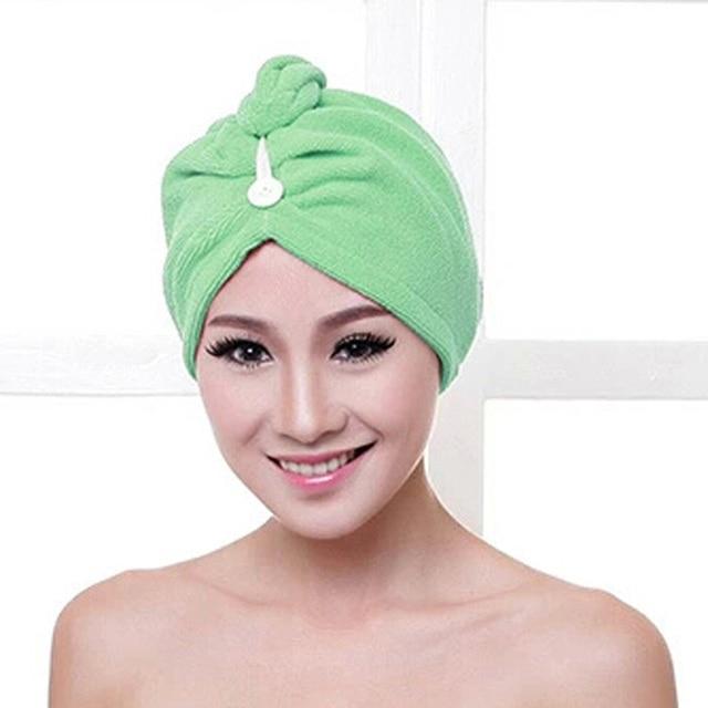 Toalla de baño de microfibra absorbe la absorción de la humedad sombreros de pelo mojado de secado rápido señoras herramienta de baño cap económico ultra barato