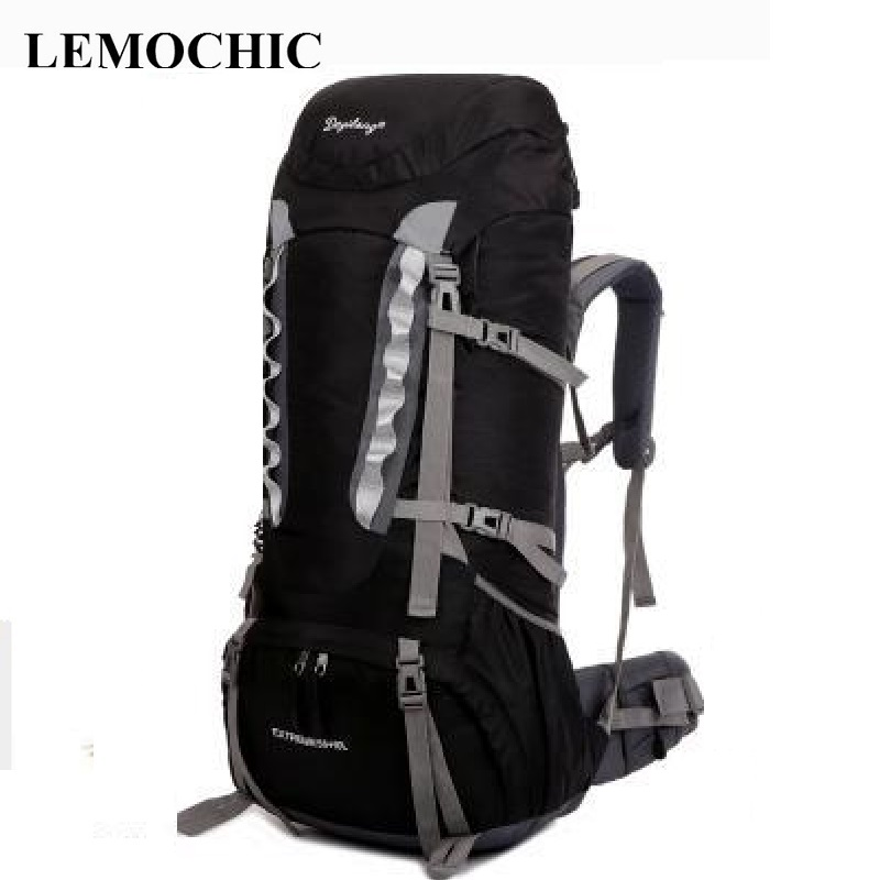 LEMOCHIC Outdoor mountaineering bag 60L large capacity double shoulder travel backpack High quality shiralee luggage lemochic high 65l outdoor mountaineering bag waterproof sport travel backpack camping hiking shiralee luggage canvas rucksack