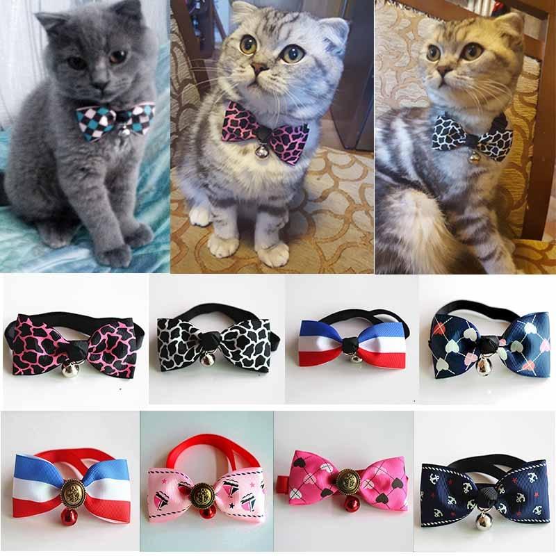 Pet Tie Puppy Dog Bow Tie Adjustable Cat Necktie With Bell Cute Collar Accessory