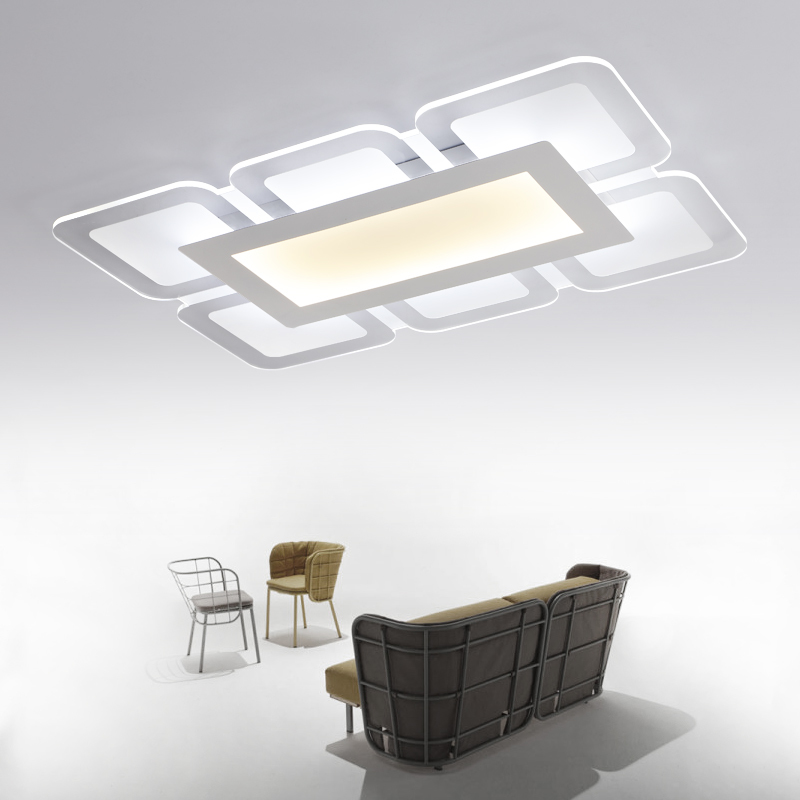 Surface mounted modern led ceiling chandelier lights for living study room bedroom Ultra-thin chandelier lighting Acrylic