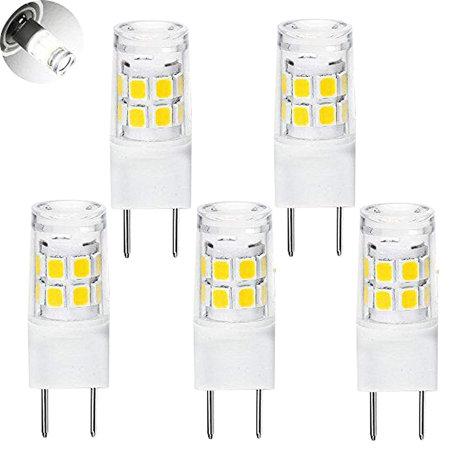 Hot Sale LED G8 Light Bulb, G8 GY8.6 Bi-pin Base LED, Not Dimmable T4 G8 Base Bi-pin Xenon JCD Type LED 120V (5-Pack) (G8 3W) все цены
