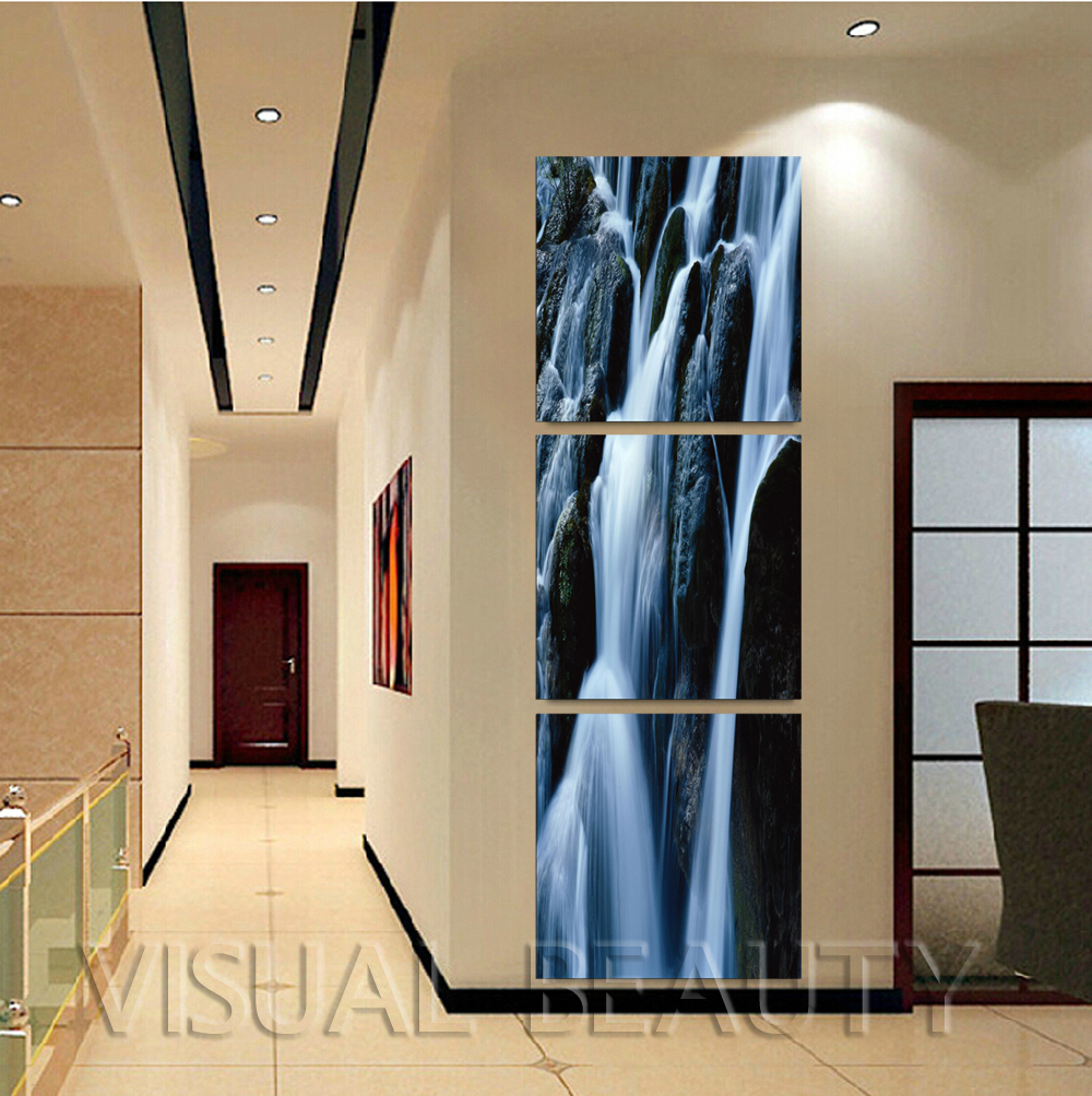 Home Goods Artwork: FREE SHIPPING Home Goods Waterfall Wall Art Canvas