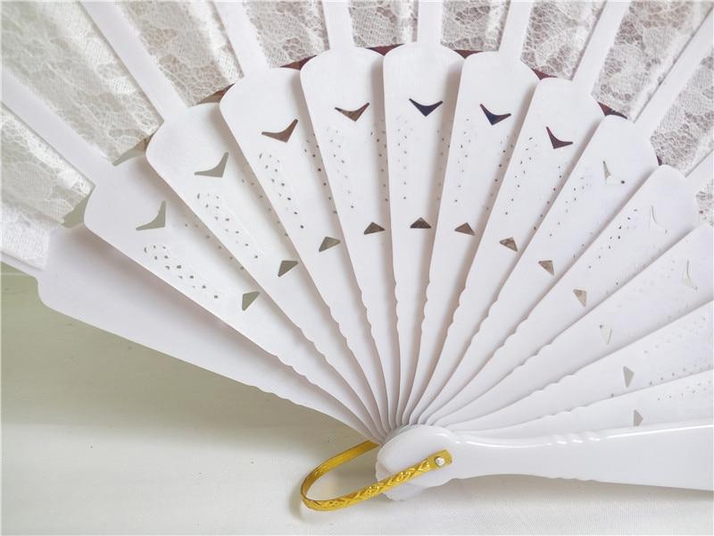 50pcs Bele čipke Poročni navijač favorit, Dame Hand Fan, Čipke s - Prazniki in zabave - Fotografija 5