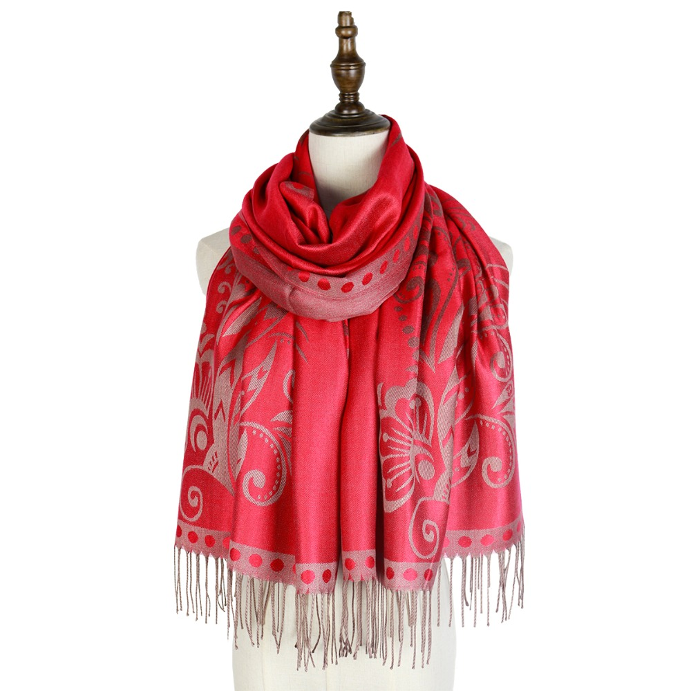spring jacquard scarfs rayon wraps shawls scarves femme pashmina cotton capes fashion floral tippet women hijabs scarfs vimpa in Women 39 s Scarves from Apparel Accessories