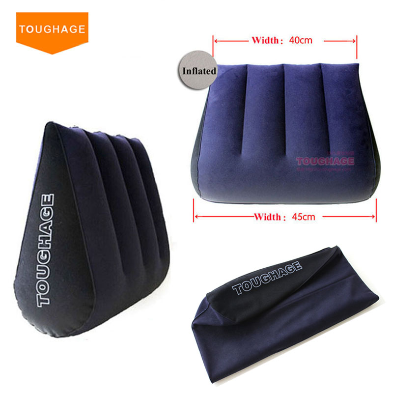 Toughage Inflatable Sex Pillow Positions Adult Sex Sofa Bed Cushion Triangle Wedge Pad Sofa Toys Sex furniture Hold Pillow horrored halloween night printed sofa cushion pillow case