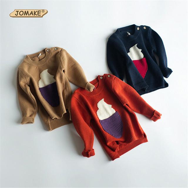 Niños Favorita Helado Otoño E Invierno Pullover Suéteres de La Marca de Moda Tops Botón Niño Niños Y Niñas de Ropa Casual