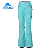 Cikrilan Hot Sale Snow Thermal Outdoor Snowboard Water Resistant Winter Ski Pants Women Windstopper Breathable Pantalones