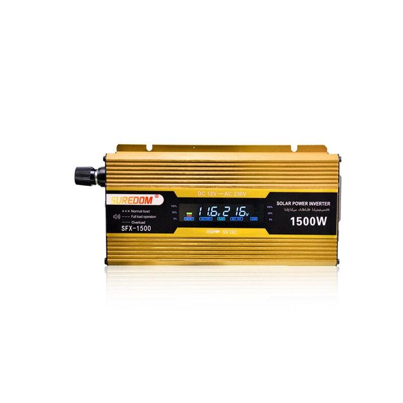 Voltage converter 12V to 220V 24V to 220V 48V to 220V 1500W inverter with LCD USB power converter