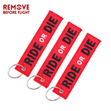 3PCS RIDE OR DIE Keychain for Motorcycle Fashion Key Rings Embroidery Tag llavero Car Parts and Accessories Wholesale Tags