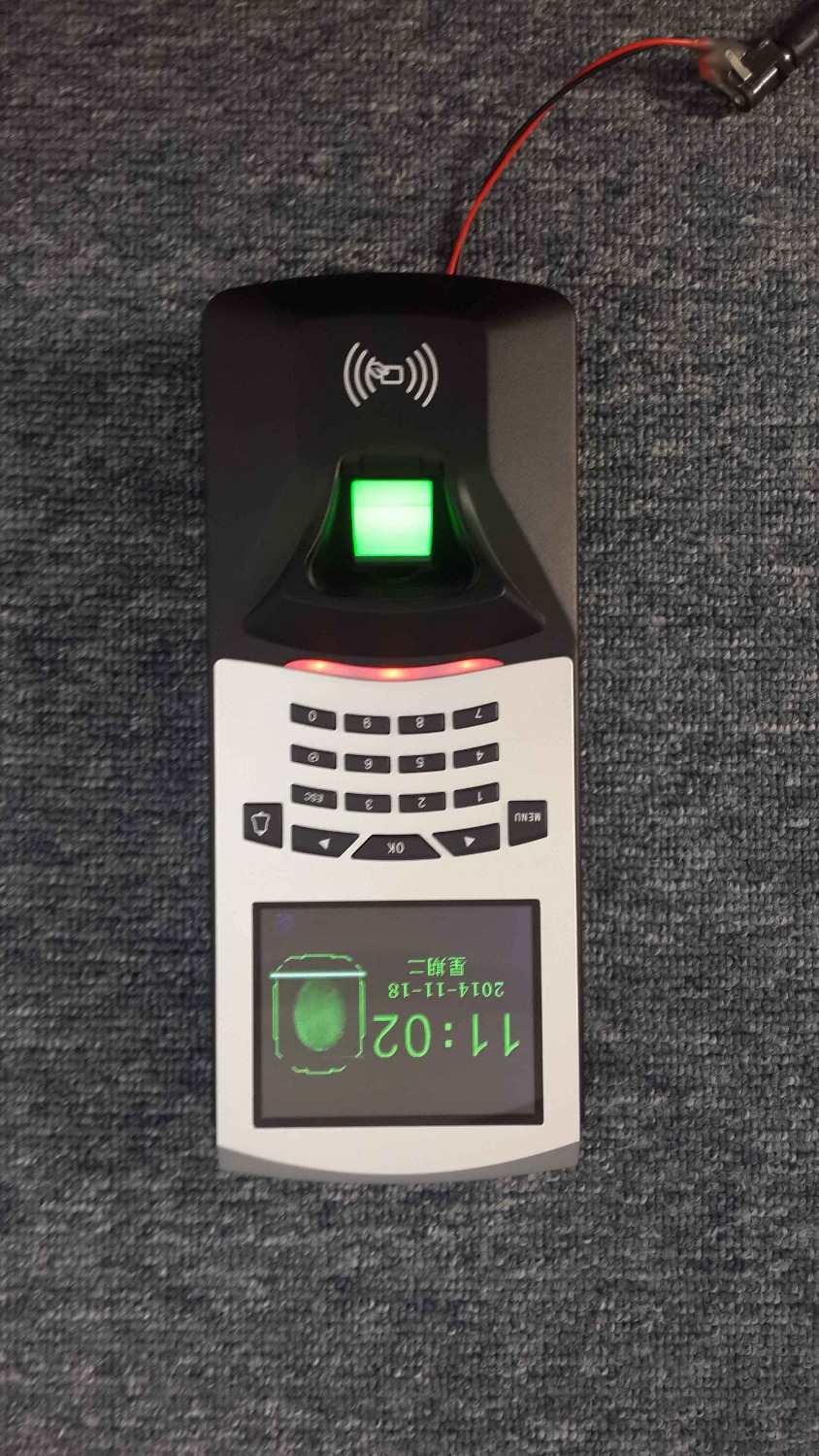 F807 Biometric Fingerprint Access Control Fingerprint Attendance Keypad Access Controller standalone door access control system optional spanish arabic biometric fingerprint door access control tcp ip wiegand f19 fingerprint door security controller