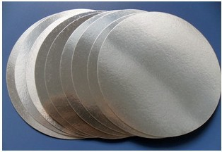 For induction sealing 56mm plactic laminated aluminum foil lid liners 3000with custom made logo printing(one color)
