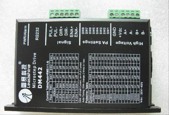 цена на Leadshine Digital Stepper Motor Driver DM442 based on DSP design fit nema17 to nema 23 motor CNC stepper system