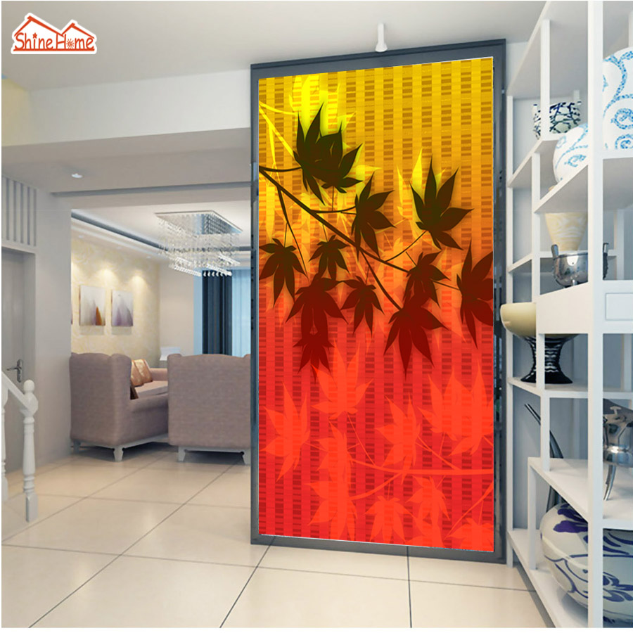 ShineHome-Maple Leaf Gold Wallpaper Mural for 3d Rooms Walls Wallpapers for 3 d  Living Room Wall Paper Murals Wallpaper Roll shinehome red rose bloom golden golden wallpaper for 3d rooms walls wallpapers for 3 d living room wall paper murals mural roll