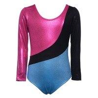 Kids Girls Ballet Dress Long Sleeves Athletic Dance Leotards Dress Ballet Gymnastics Leotards Acrobatics For Kids
