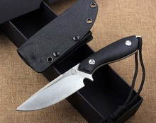 Free Fast Shipping New D2 Hunting Knife Hardness 60HRC+black and blue Micarta Handle material
