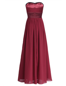 Image 4 - Tiaobug 여성 성인 strapless 쉬폰 신부 들러리 드레스 긴 tulle 맥시 바닥 길이 드레스 파티 드레스 공주 여름 드레스